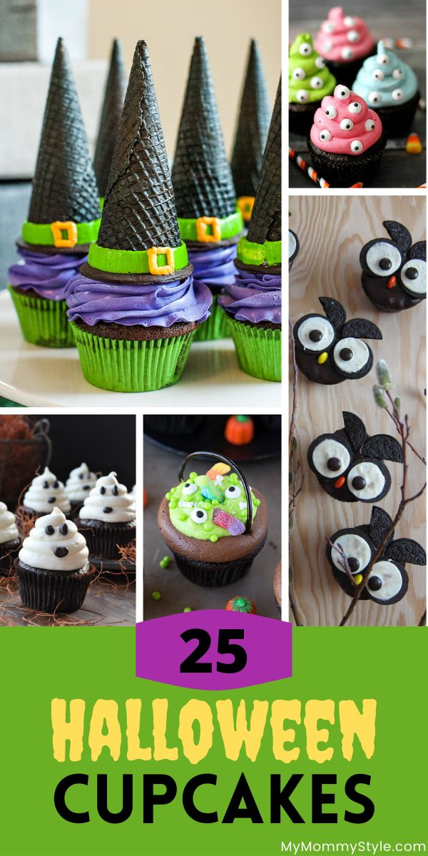 A roundup of the cutest Halloween cupcakes that are almost too spooky to eat. These would be perfect for your next Halloween party! #Halloweencupcakes #Halloweencupcakerecipes via @mymommystyle