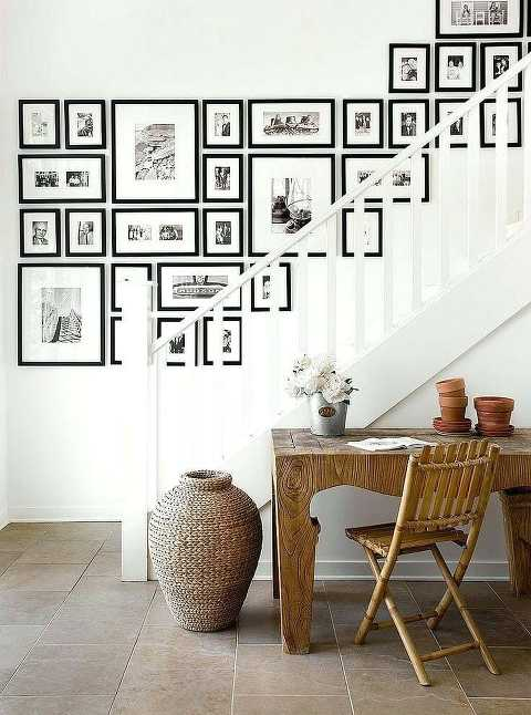 A Great Option For Frames At The Landing Instead Of Going Up The Stairs  From Bria Hammel Interiors.