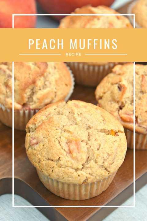 delicious peach muffins
