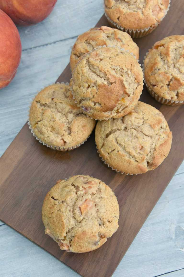 Peach Muffins cooling.