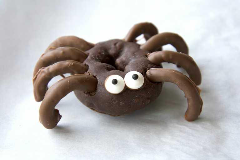 Single Chocolate spider Halloween Donut