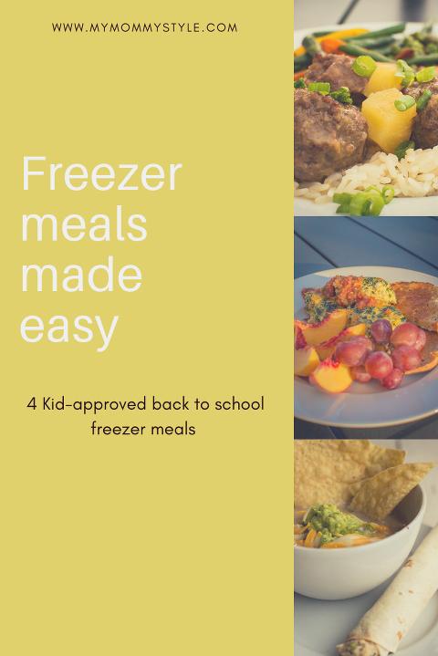 Freezer meals, Kid friendly freezer meals, Back to school freezer meals, freezer meal