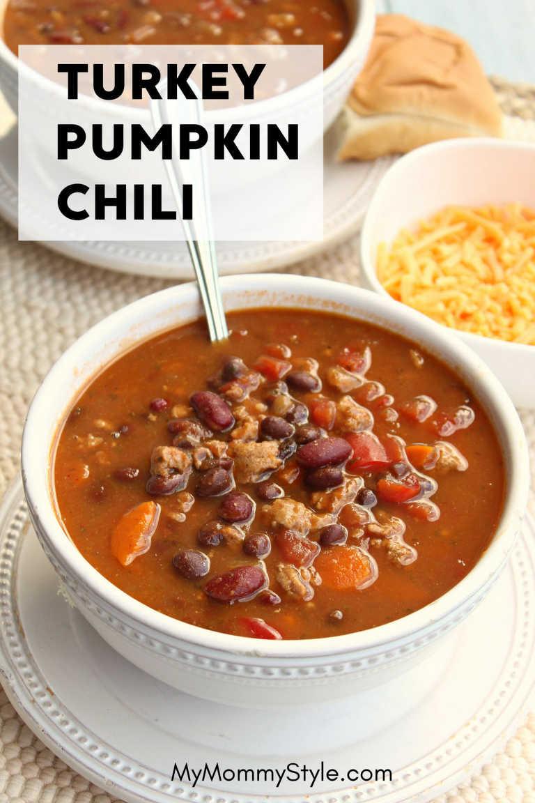 slow cooker turkey pumpkin chili