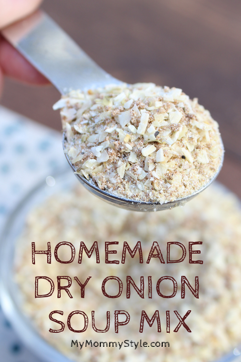 Substitute for dry onion soup mix scooped in a Tablespoon.