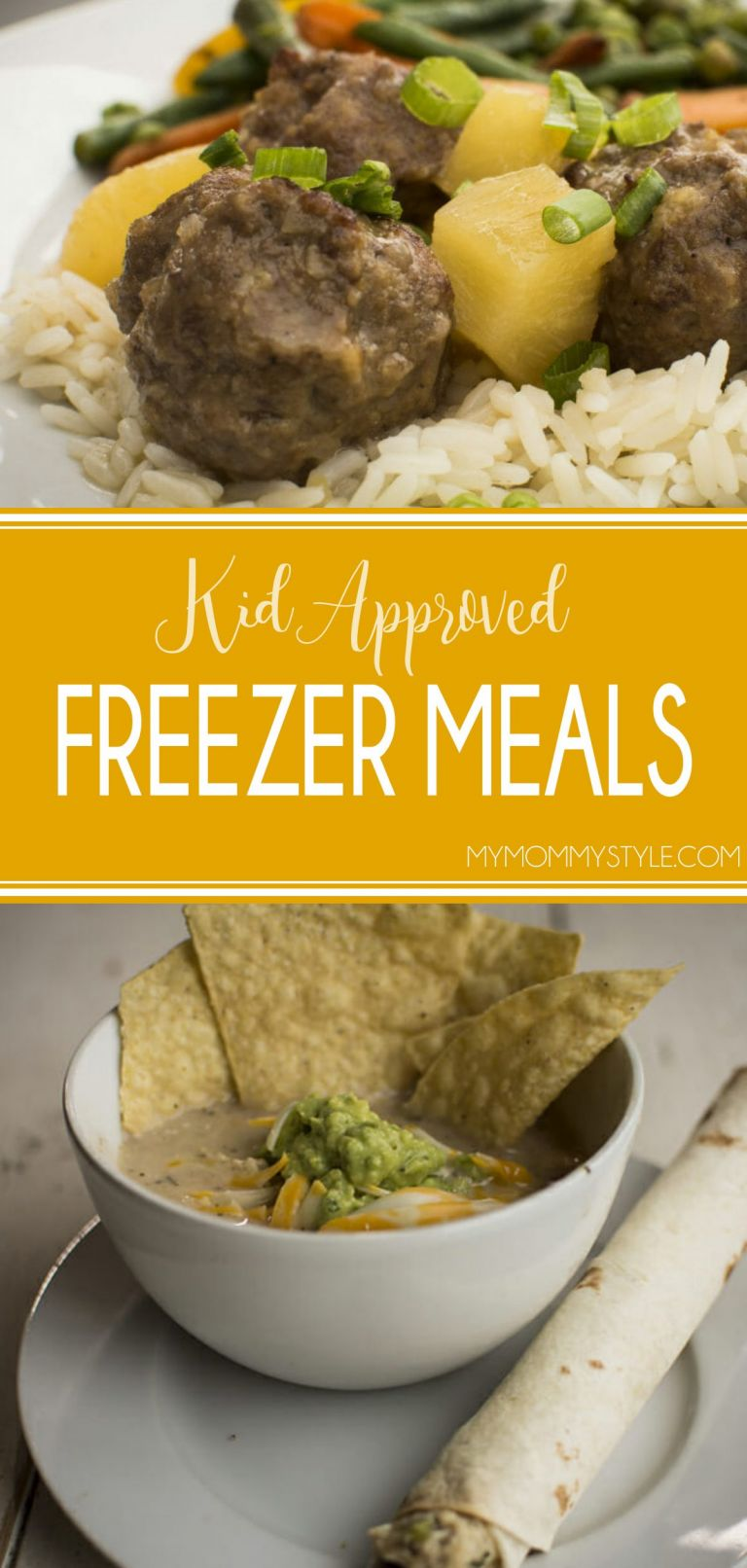 Kid approved freezer meals