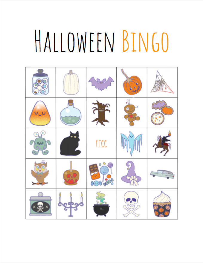 image relating to Printable Halloween Bingo identify Cost-free printable Halloween bingo - My Mommy Design and style