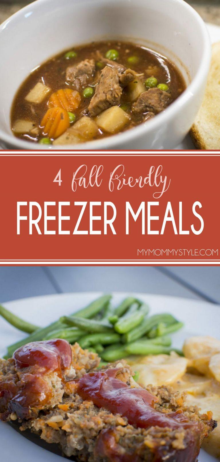 Fall friendly freezer meals