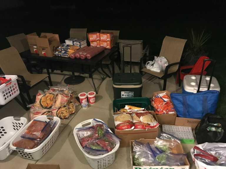 Freezer meal bag supplies