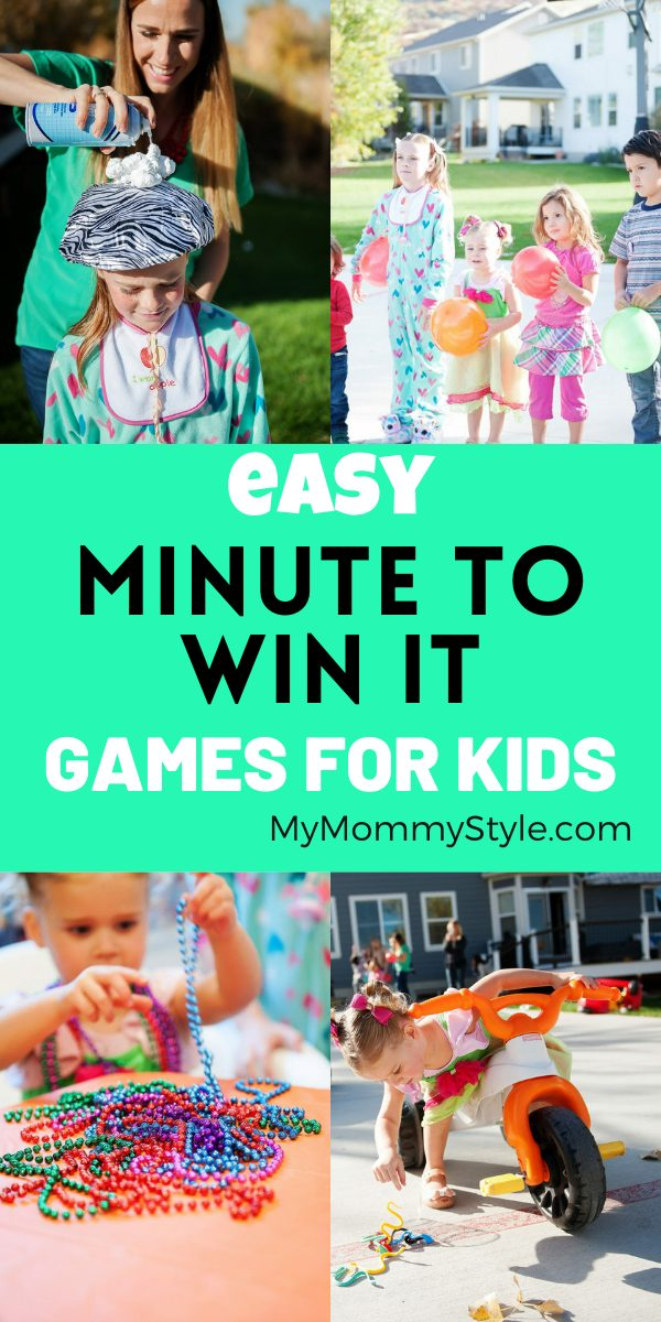Throwing a party for kids does not have to be stressful! Here is a list of easy minute to win it games for kids that are fun! #easyminutetowinitgamesforkids #minutetowinitgames #minutetowinit via @mymommystyle
