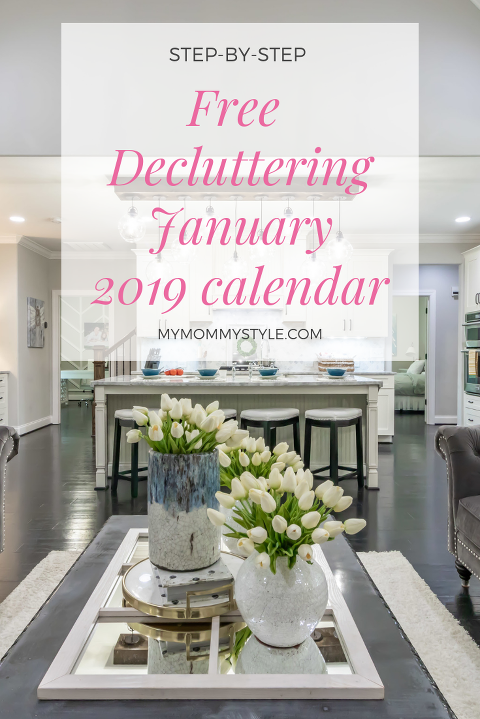 decluttering, cleaning, 2019 decluttering calendar