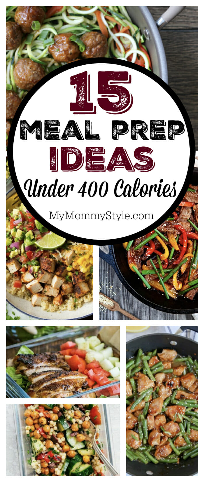All under 400 calories, these low calorie meal prep ideas bring multiple combinations of flavor sure to give you the variety you've been looking for. Meal prepping is a superb way to eat healthy and save time. via @mymommystyle