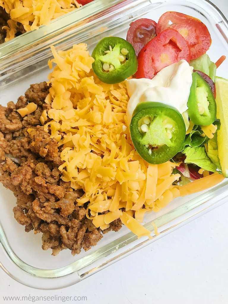Keto Taco salad with delicious taco seasoning recipe.