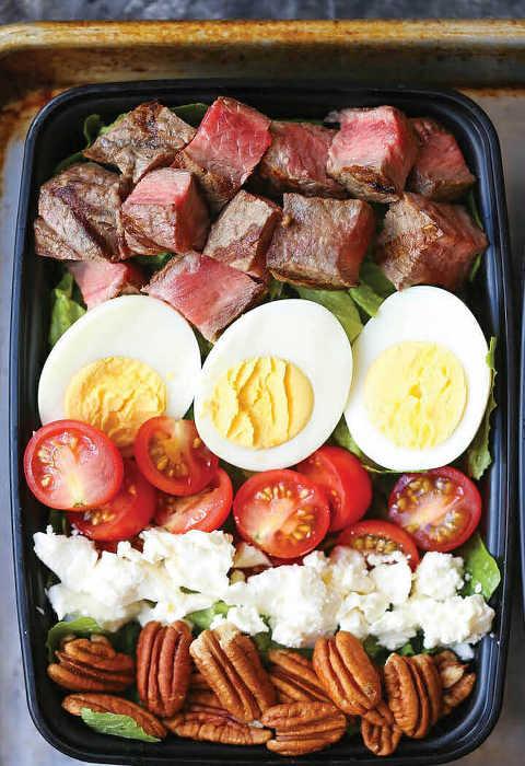Keto Steak Cob Salad Meal Prep