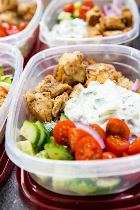 Keto Green Chicken bowls for meal prep