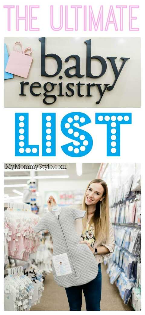 The Ultimate Baby Register List Pin