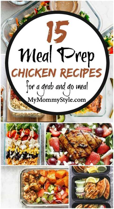 chicken meal prep recipes for grab and go meals