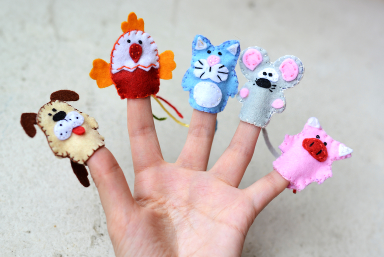 Finger Puppets your kids can make