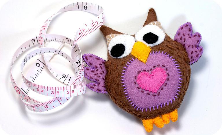 Cute stuffed owl your kids can sew