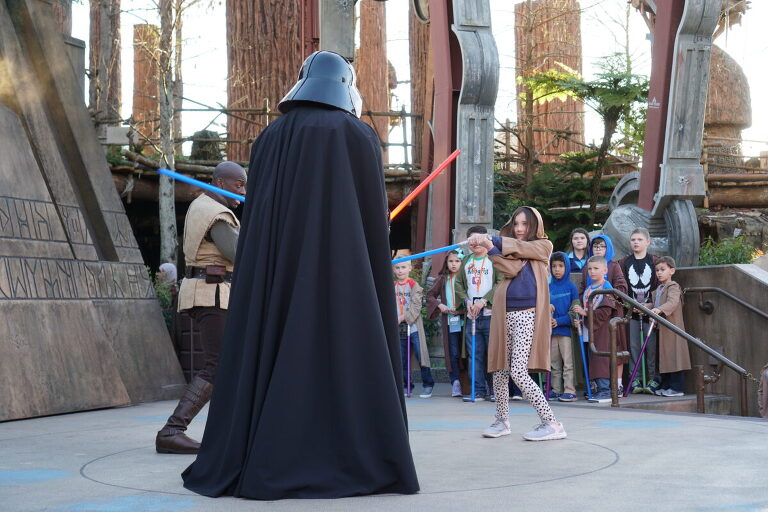 Light Saber fighting at Disney