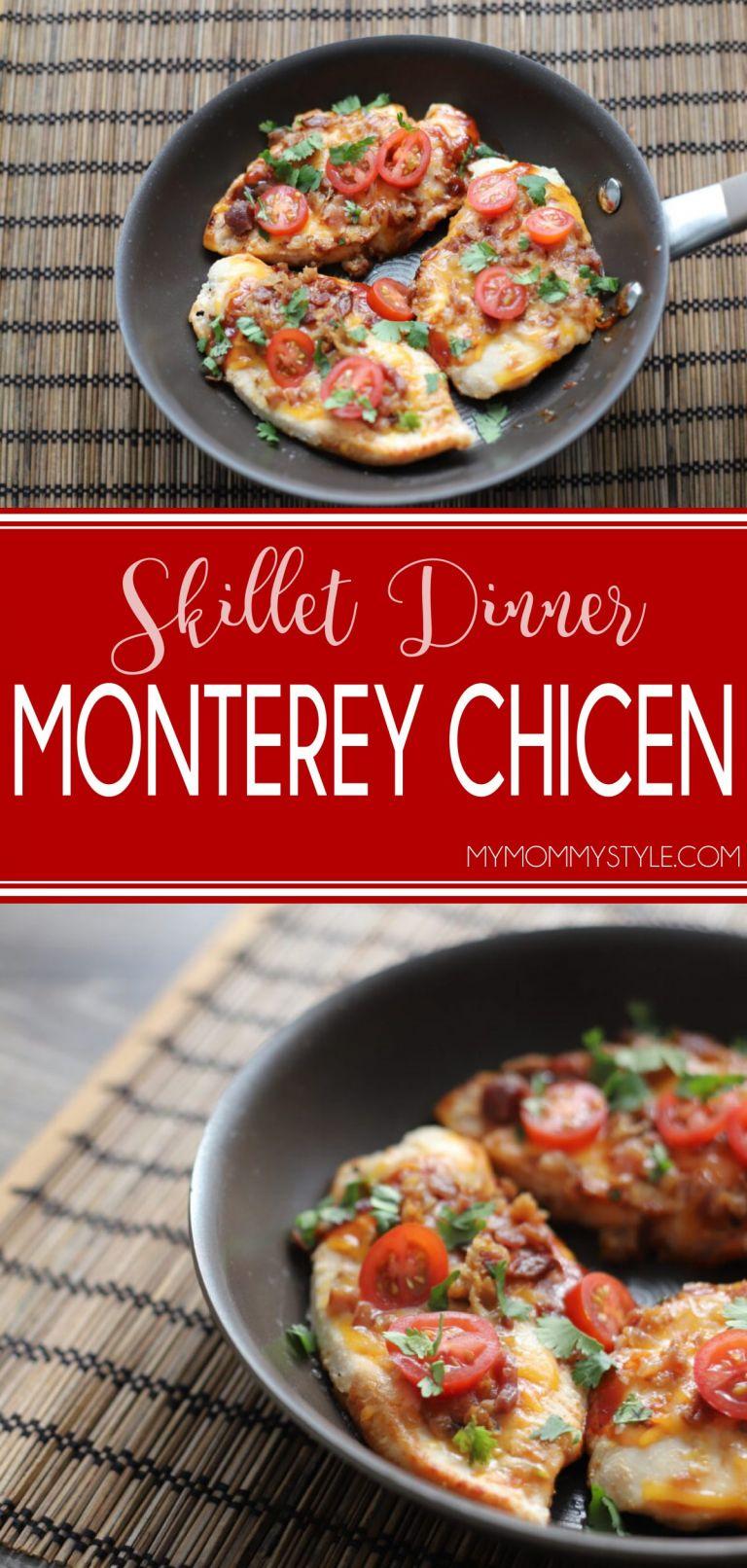 Heart Healthy Recipes of Monterey chicken skillet dinner