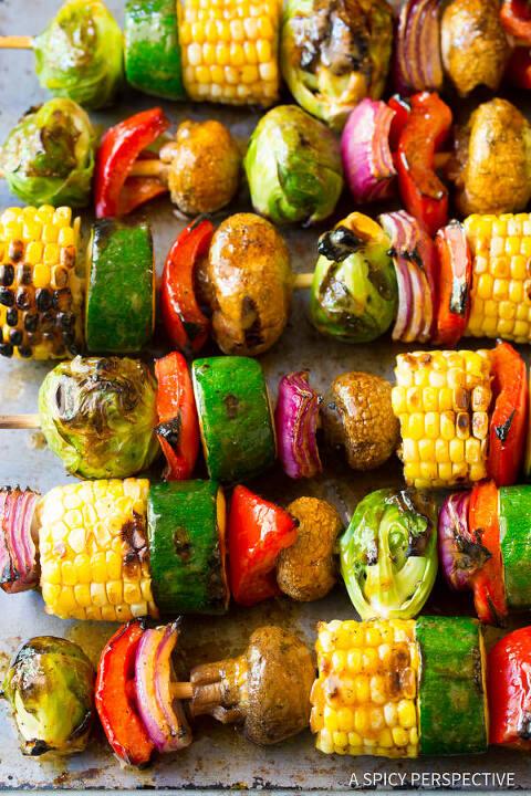 Grilled Fajita Vegetable Skewer - Vegetarian