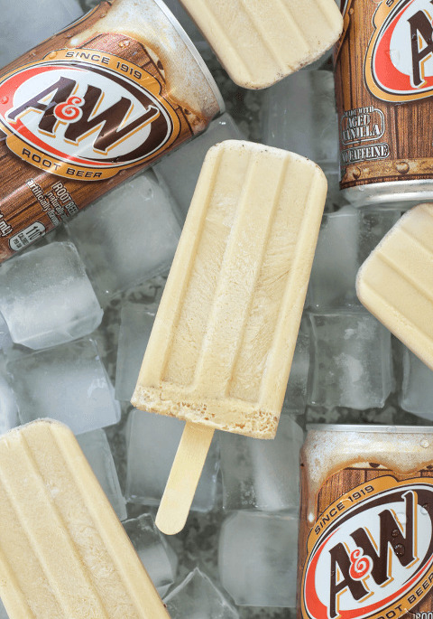 Root Beer Float Popsicle Recipe