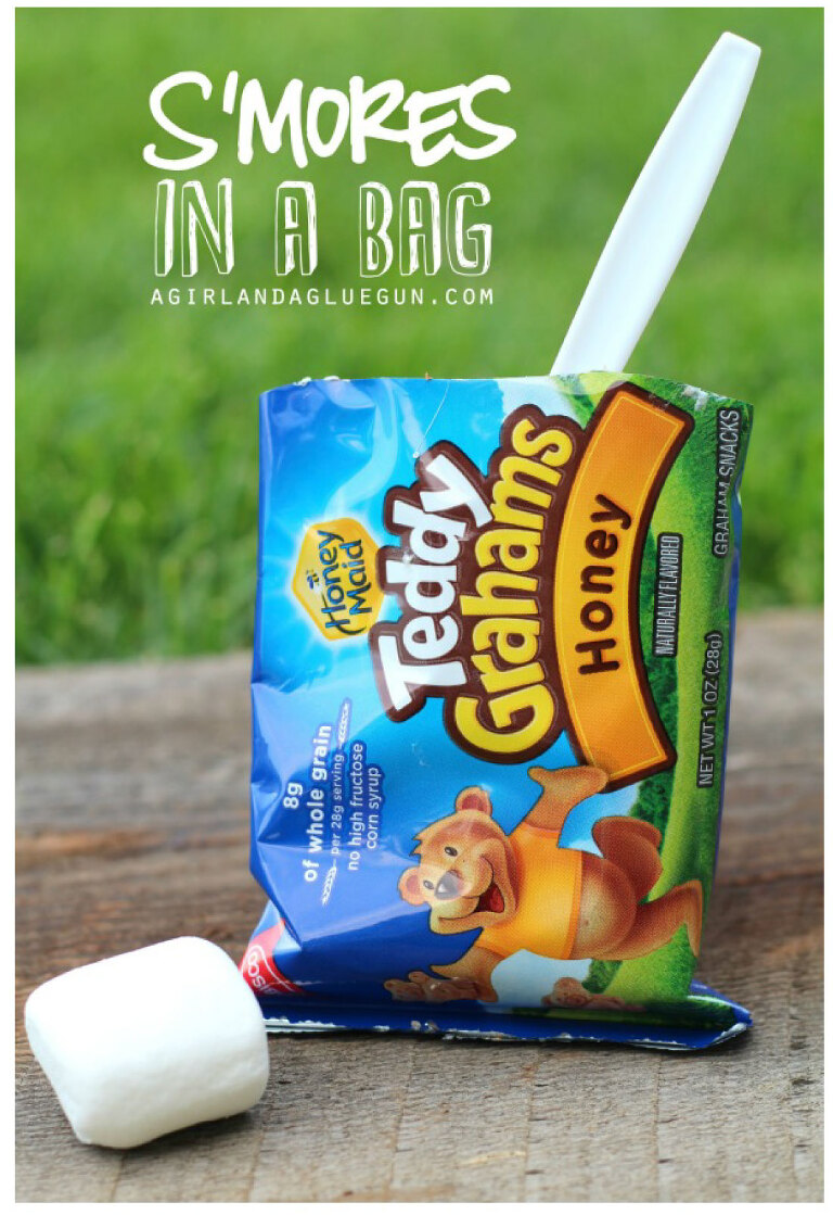 S'mores in a bag - camping treat