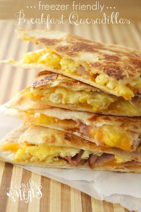 breakfast quesadillas made 4 different ways