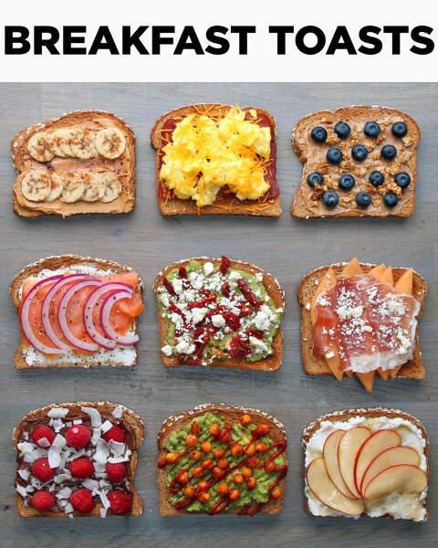 jazzed up breakfast toast