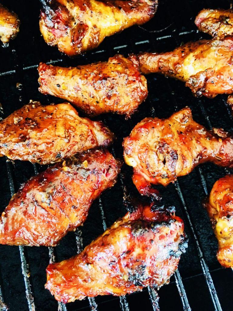 maple mustard chicken wings