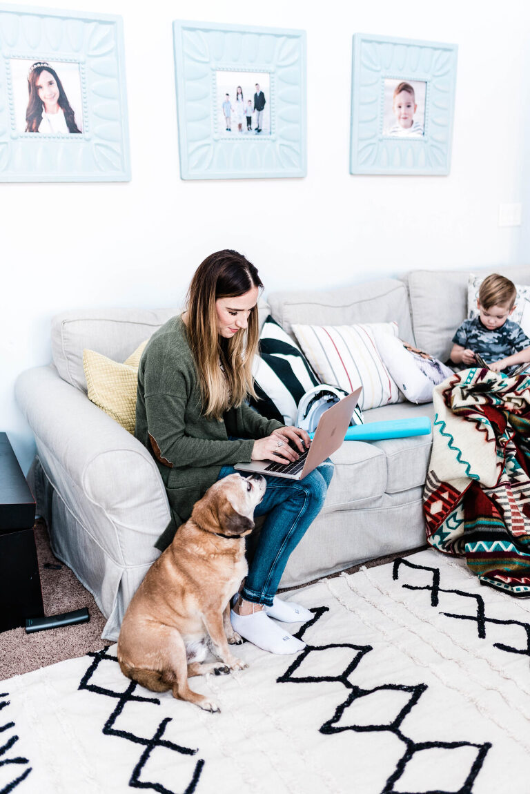 Working from home while taking care of their kids full-time.