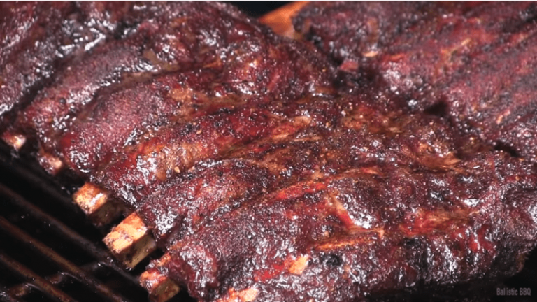 beef ribs with a killer smoke ring