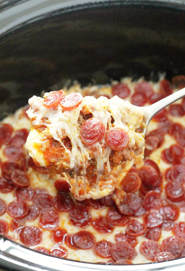 Ultimate pizza dip for tailgating