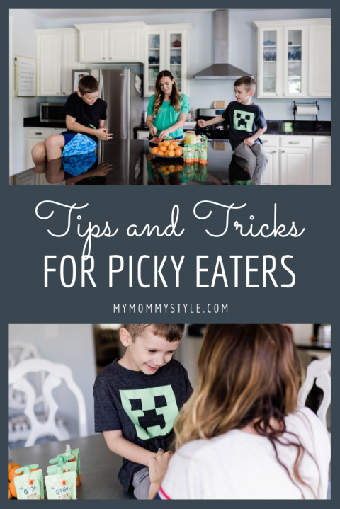 Mom using Picky Eaters List to help her kids eat healthy.