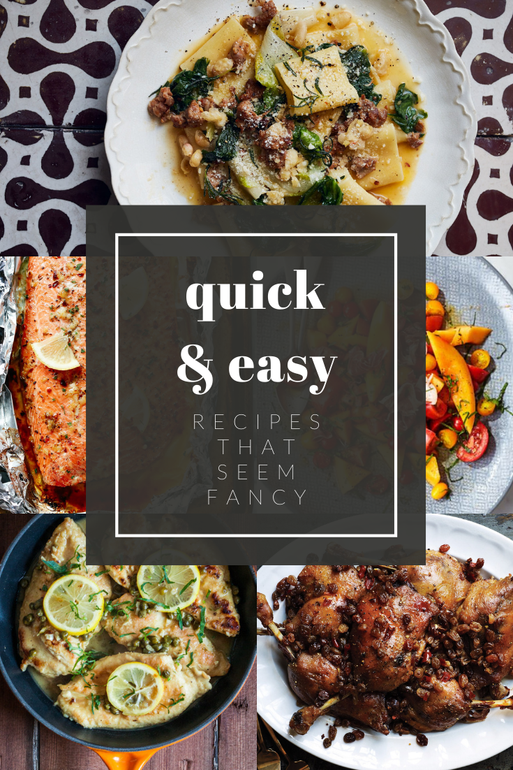 These quick and easy dinner recipes seem fancy without being too difficult or using obscure ingredients. Impress the family or your dinner guests. via @mymommystyle