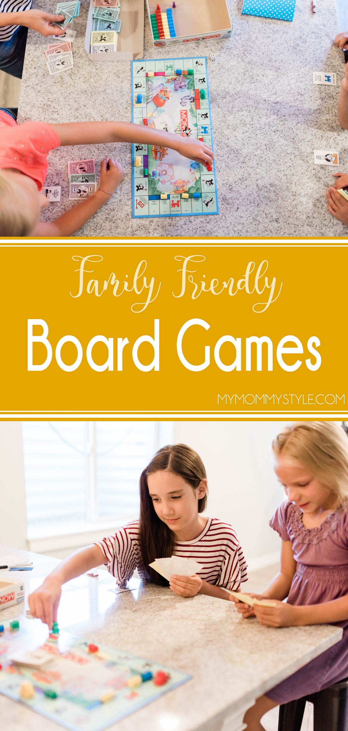 Here's a great list of family friendly board games that are perfect for all ages. You can play with kids and adults and everyone will have fun! via @mymommystyle
