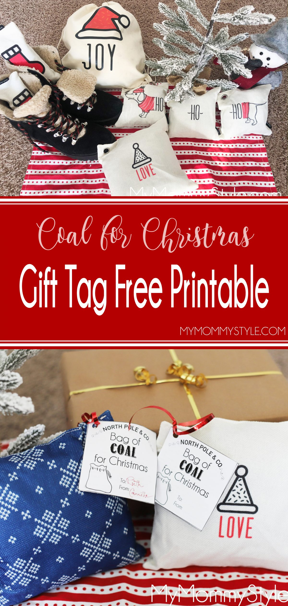 Give Charcoal as a Christmas gift, with the punny gift tag. Get the free gift tag on MyMommyStyle.com via @mymommystyle