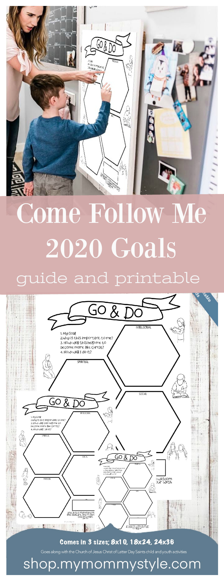 This is such a helpful guide for goal setting with the new LDS direction for youth! This printable is available in three different sizes that you can use to help your child stay motivated with their goals! via @mymommystyle