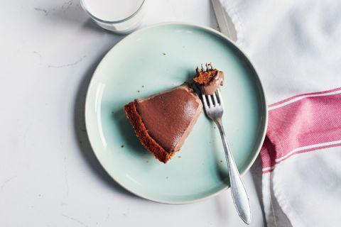 Slice of Peanut Butter Chocolate Shakeology Pie