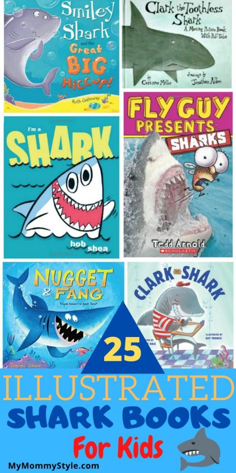 Shark Books Collage