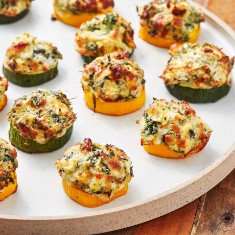 Heart Healthy Recipes of Spinach Artichoke Zucchini Bites