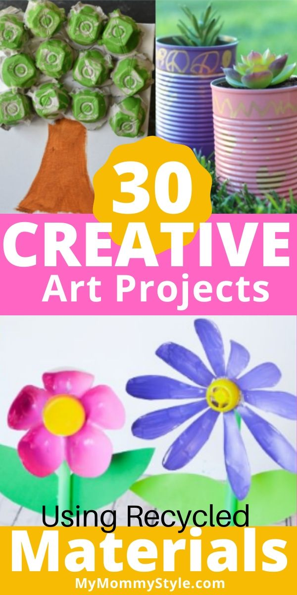 Creative art projects for kids that you can make from recycled items around your house. #activitiesforkids #activitiesforkidsathome via @mymommystyle