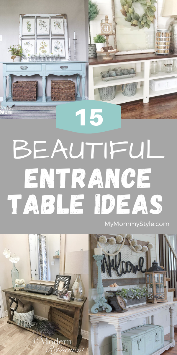 Fifteen beautiful entrance table ideas to give some inspiration on updating your home or adding fresh and new furniture and decor. via @mymommystyle