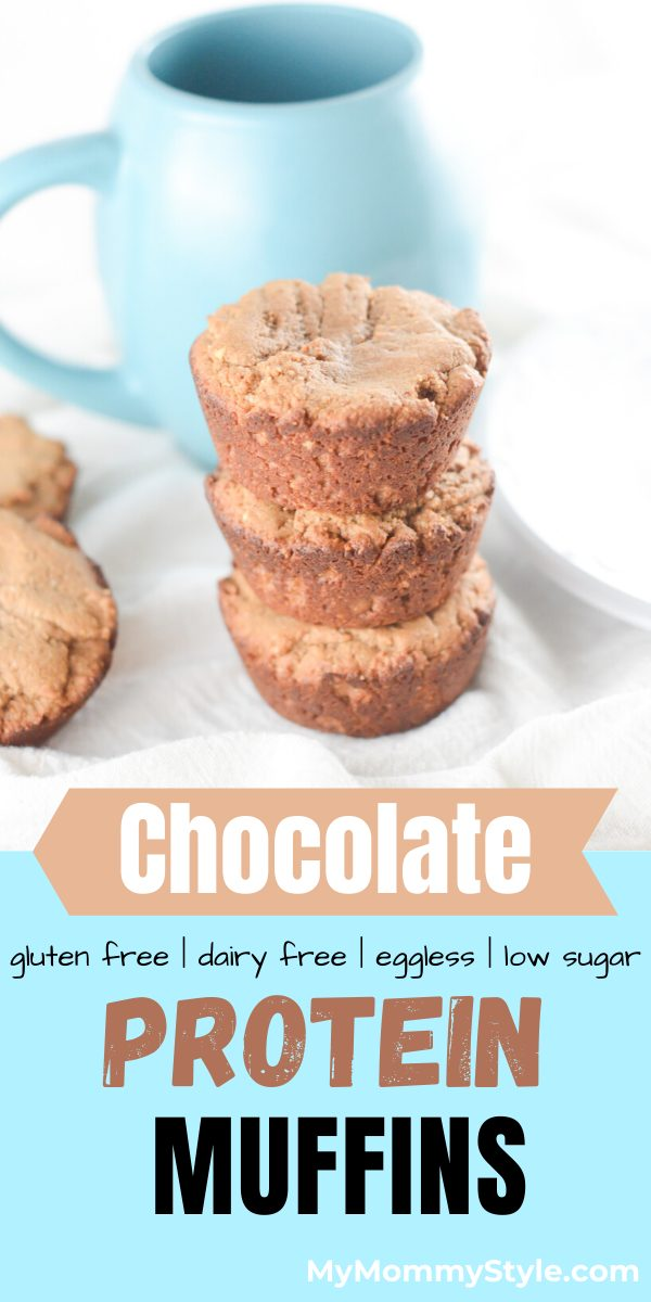 These chocolate protein muffins make the perfect meal or snack to get you through the day. They are gluten free, dairy free, eggless and low in sugar! #chocolateproteinmuffins #proteinmuffins #proteinmuffinrecipe via @mymommystyle