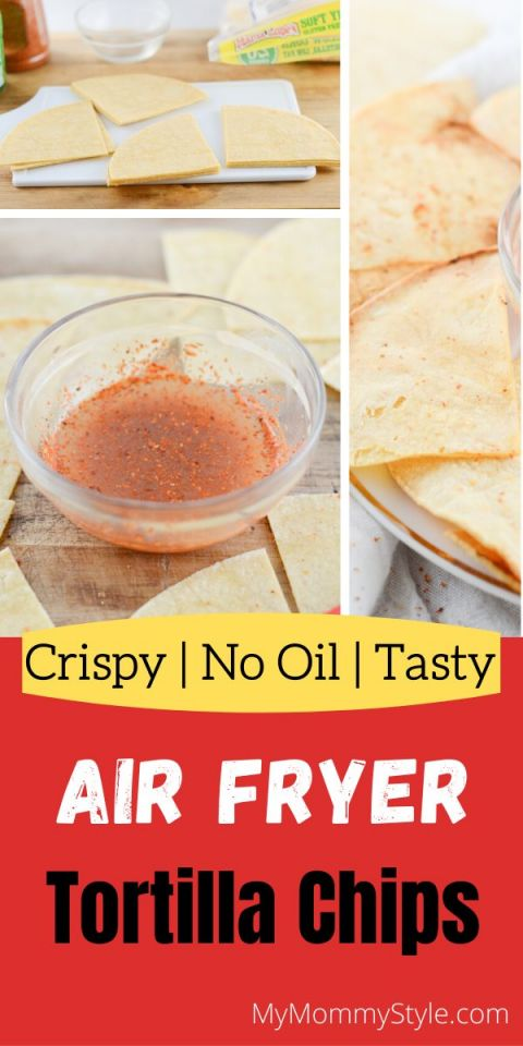 Air Fryer Tortilla chips with dipping sauce