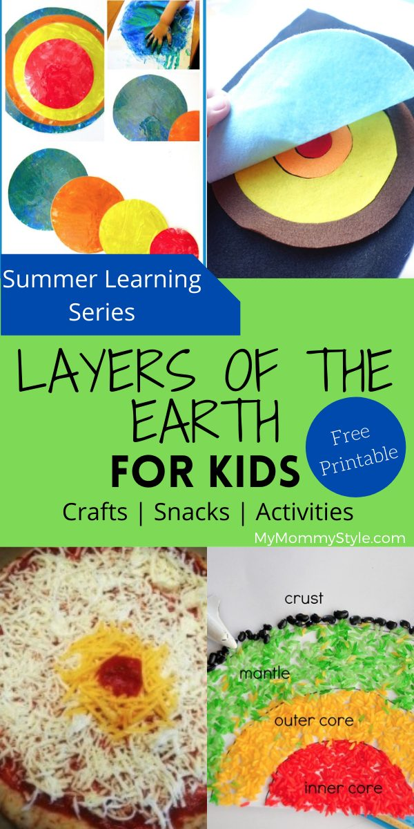 Make it fun learning the layers of the Earth for kids! These activities, crafts and snacks make it easy to teach; plus, there is a free coloring printable. via @mymommystyle