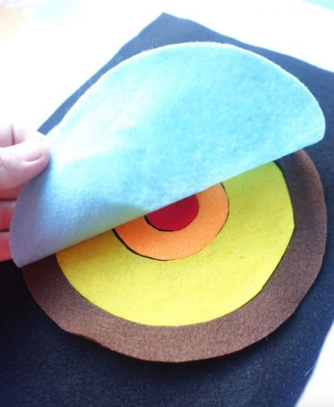 Felt layers of the earth for kids