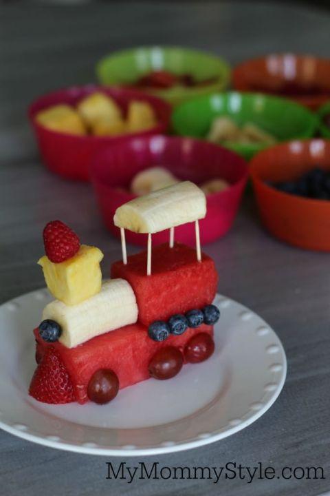 Fruit train snack for kids