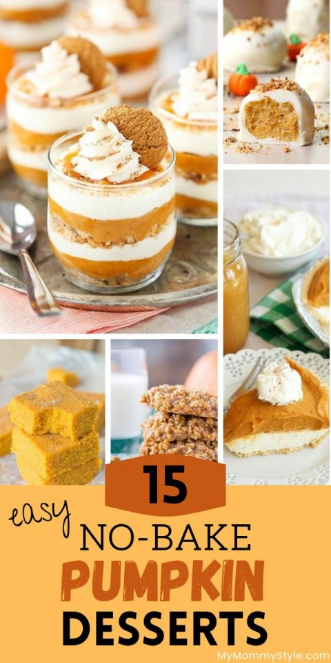 No bake pumpkin desserts