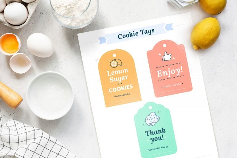 Kind Things To Do For Your Neighbors, cookie printable tags